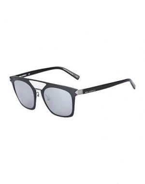 Солнечные очки KARL LAGERFELD. Цвет: черный