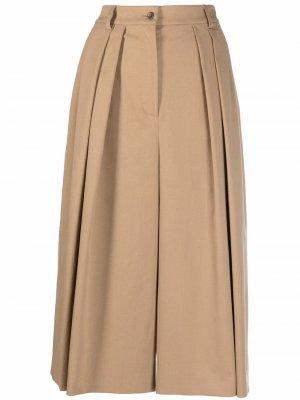 Pleated-waist culottes Alberta Ferretti. Цвет: нейтральные цвета