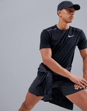 Черная футболка Tailwind 1.0 AR2503-010 Nike Running. Цвет: черный