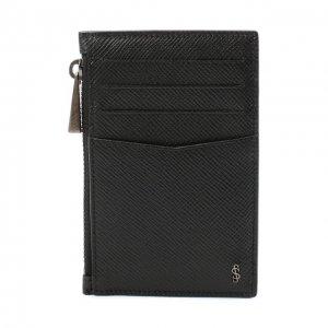 Кожаный футляр для кредитных карт Serapian. Цвет: чёрный