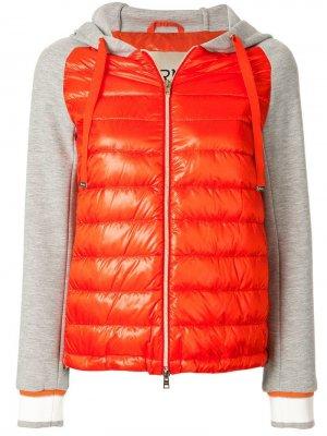 Дутая куртка-бомбер Herno. Цвет: красный