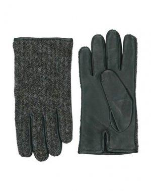 Перчатки ORCIANI. Цвет: зеленый