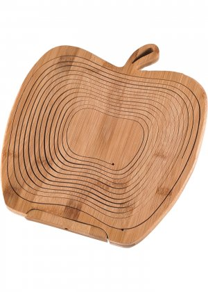 Складная корзина/подставка из бамбука bonprix. Цвет: корич-невый