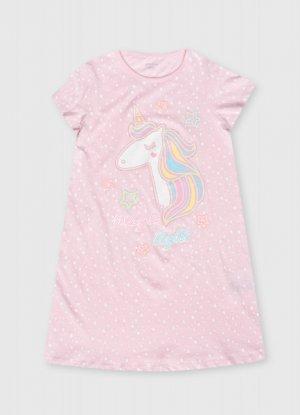 Ночная сорочка для девочек O`Stin. Цвет: нежно-розовый