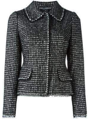 Твидовый жакет Dolce & Gabbana. Цвет: черный