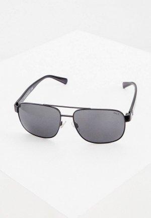 Очки солнцезащитные Polo Ralph Lauren. Цвет: черный