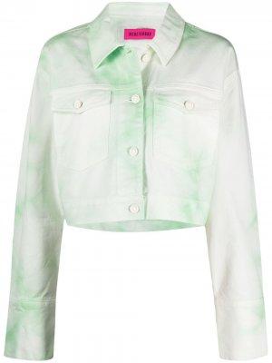 Джинсовая куртка с нашивкой-логотипом IRENEISGOOD. Цвет: зеленый