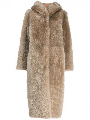 Пальто Stampa Liska. Цвет: нейтральные цвета