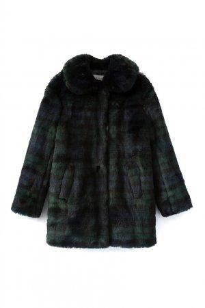 Пальто из искусственного меха Maisie Bonpoint. Цвет: синий