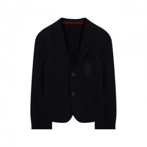 Шерстяной пиджак Dal Lago. Цвет: синий