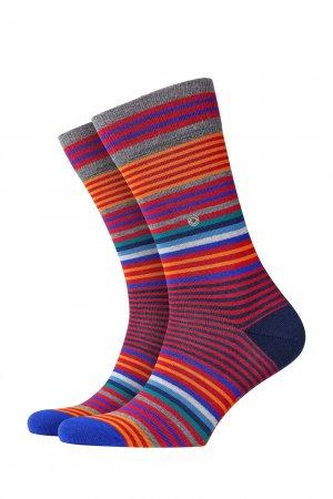 Разноцветные носки Stripe Burlington. Цвет: красный