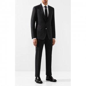 Хлопковый костюм Dolce & Gabbana. Цвет: серый