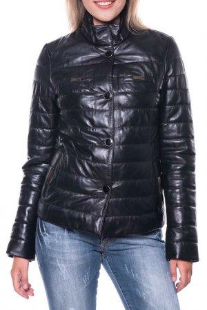 Кожаная куртка GIORGIO DI MARE. Цвет: черный