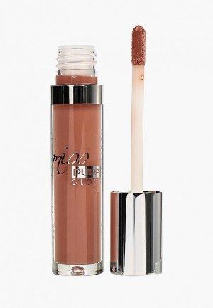 Блеск для губ Pupa MISS GLOSS т.105 величественный телесный, 5 мл. Цвет: розовый