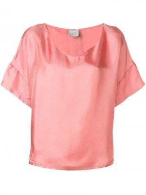 Блузка с короткими рукавами Alysi. Цвет: розовый