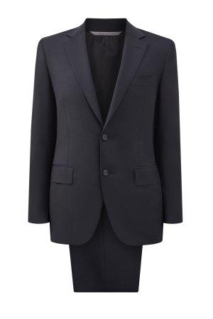 Классический черный костюм из шерстяной ткани Travel CANALI. Цвет: черный