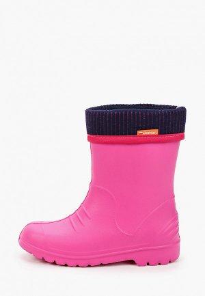 Резиновые сапоги Demar. Цвет: розовый