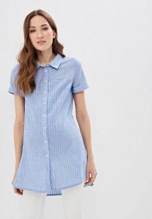 Рубашка Очаровательная Адель. Цвет: голубой