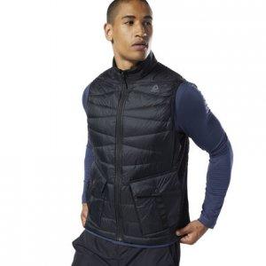Пуховый жилет Outerwear rmowarm Hybrid Reebok. Цвет: black / black