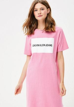 Платье Calvin Klein Jeans CA939EWBTHT1. Цвет: розовый