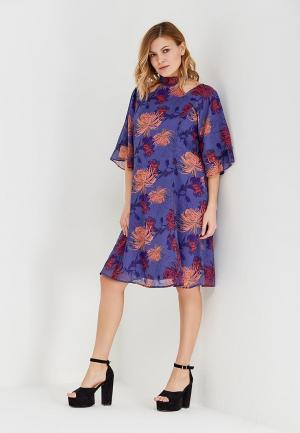 Платье LOST INK PLUS CAPE BACK DRESS IN FOXTROT FLORAL. Цвет: фиолетовый
