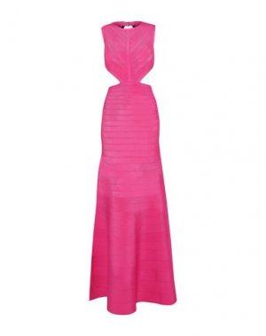 Длинное платье HERVÉ LÉGER. Цвет: фуксия
