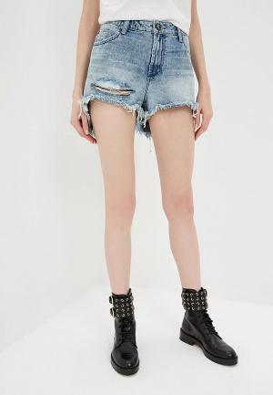 Шорты джинсовые One Teaspoon BONITA HIGH WAIST. Цвет: синий
