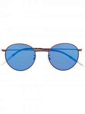 Солнцезащитные очки в круглой оправе Tommy Hilfiger. Цвет: синий