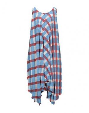 Платье миди ISSEY MIYAKE. Цвет: лазурный