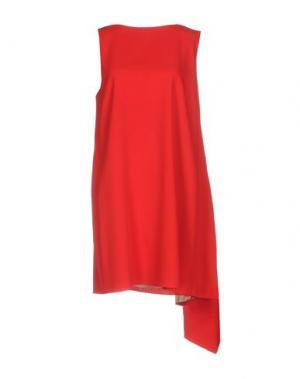 Короткое платье VALENTINO. Цвет: красный