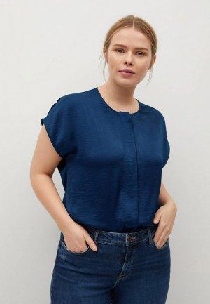 Блуза Violeta by Mango - AGUA. Цвет: синий