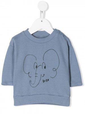 Elephant print T-shirt Bobo Choses. Цвет: синий