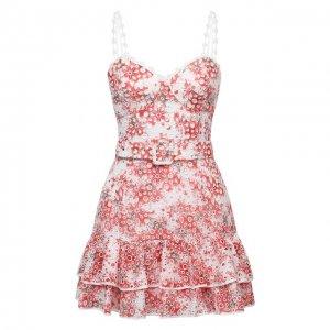 Хлопковое платье Charo Ruiz Ibiza. Цвет: красный