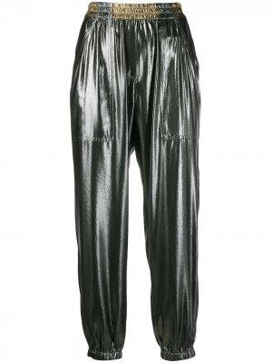 Укороченные спортивные брюки с эффектом металлик 8pm
