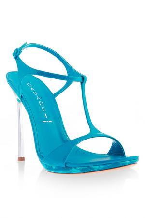 Туфли Casadei. Цвет: голубой