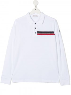 Рубашка поло Whitels с длинными рукавами Moncler Enfant. Цвет: белый