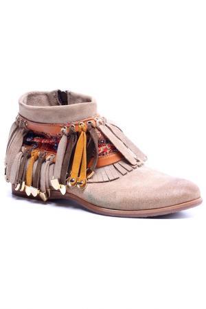 Ботинки AREA FORTE. Цвет: бежевый