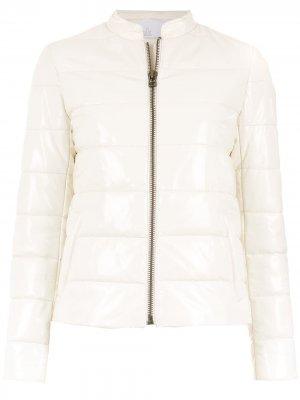 Кожаный пуховик куртка Nk