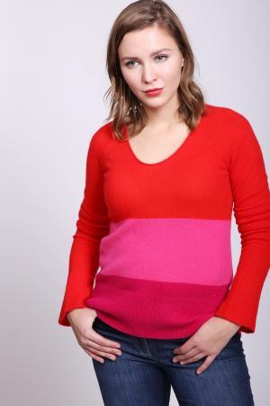 Пуловер Comma. Цвет: красный