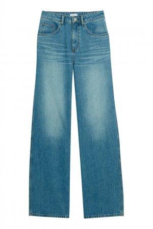 Голубые широкие джинсы Claudie Pierlot. Цвет: голубой