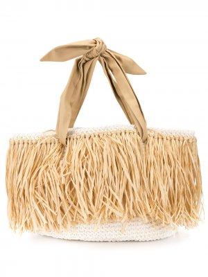 Плетеная пляжная сумка 0711. Цвет: коричневый
