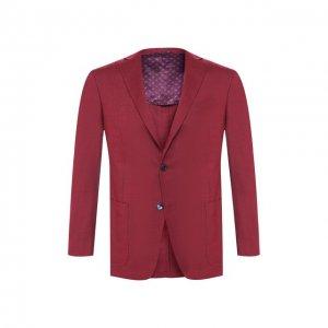 Кашемировый пиджак Zilli. Цвет: красный