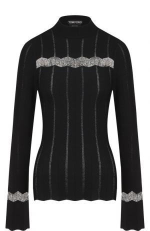 Пуловер с воротником-стойкой Tom Ford. Цвет: черный