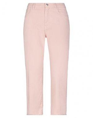 Джинсовые брюки-капри NINE:INTHE:MORNING. Цвет: розовый