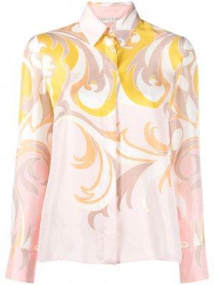 Рубашка с принтом Emilio Pucci. Цвет: розовый