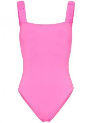 Слитный купальник Scrunchie Beth Richards. Цвет: розовый