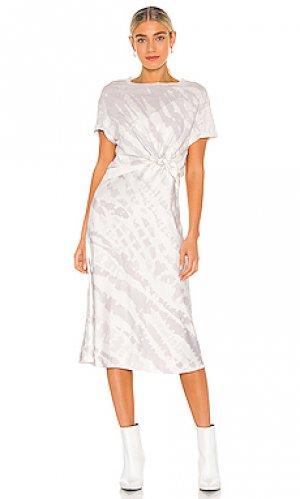 Платье ALLSAINTS. Цвет: бледно-лиловый