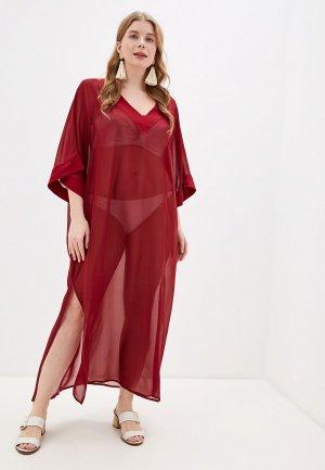 Платье пляжное Donatello Viorano. Цвет: бордовый