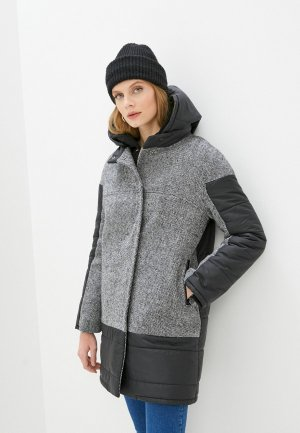 Куртка утепленная Ovelli Мила. Цвет: серый