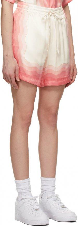 Multicolor Silk Lucid Dreams Printed Shorts Casablanca. Цвет: peach